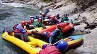 Une pause sur la rivière... L'intégrale du Drac offre une descente d'environ 17 km.